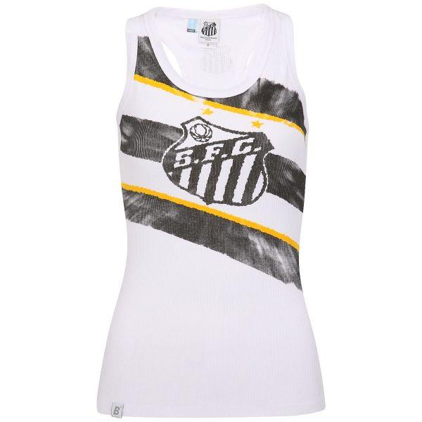 68e9f710a7bae Camiseta Regata Braziline Santos Rib Feminina - Tam  G - Dealeju